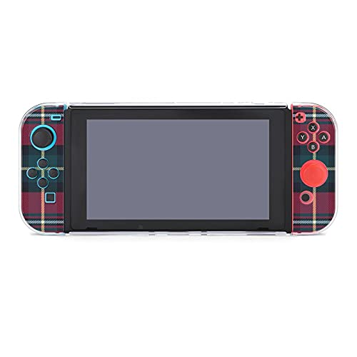 Nintendo Switch's protective cover, Nintendo Switch's Red tartan bath towel set split 5-piece switch game console, scratch-resistant PC cover