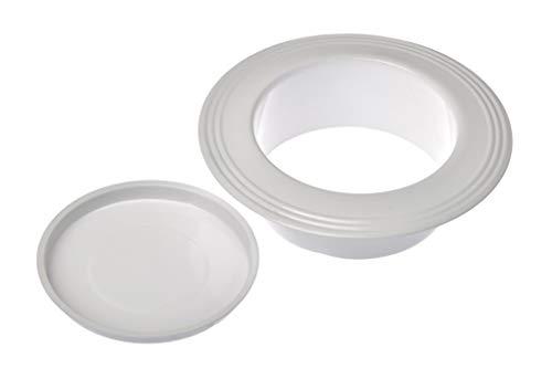 acerto 40633 Ofenrohrrosette 120mm - Emaille * Energie sparen * Einfacher Einbau (Wandrosette 120mm, Weiß)