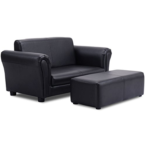 Costzon Children Sofa w/Footstoo...