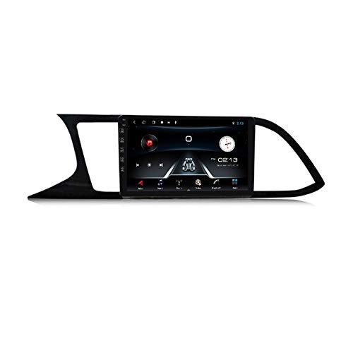 ADMLZQQ Radio de Coche Navegación GPS, 9 Pulgadas 2 DIN para Seat Leon 2012-2020 con Bluetooth Carplay DSP SWC RDS AUX Soporte USB Control Volante Cámara Marcha atrás Monitor reposacabezas,M150