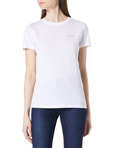 Armani Exchange Womens T-Shirt, Optic White, M