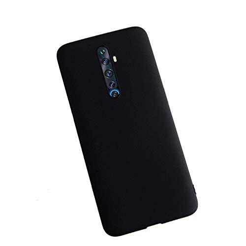 XunEda Cover per Oppo Reno 2Z Custodia, Ultra Sottile Custodia in Silicone Liquido Cover Protettiva Case +Pellicole Protettive per Oppo Reno 2Z Smartphone(Nero)