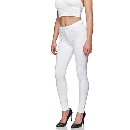 Glamexx24 Damskie spodnie ze streczu Skinny Fit Jegging High-Waist Regular mieszanka materiałów