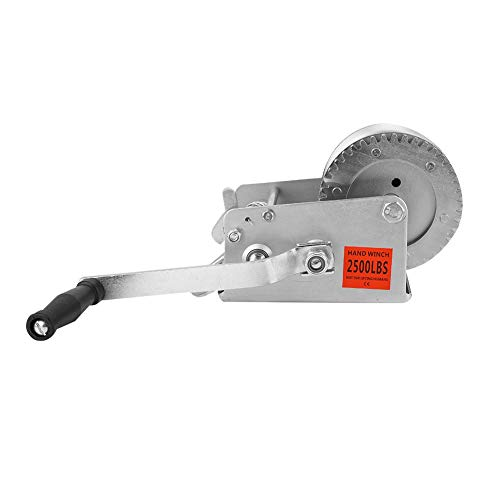 Buy Heavy Duty Hand Winch Puller Truck Smooth Action 2500LBS with 10M Steel Wire Rope Lifting Tools