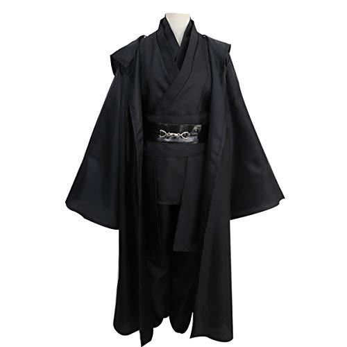 GRYY Cosplay Kostüm Samurai Kleidung Schwarzer Anzug Herren Uniform Erwachsene Weihnachtskostüm Halloween,Black-XXXL