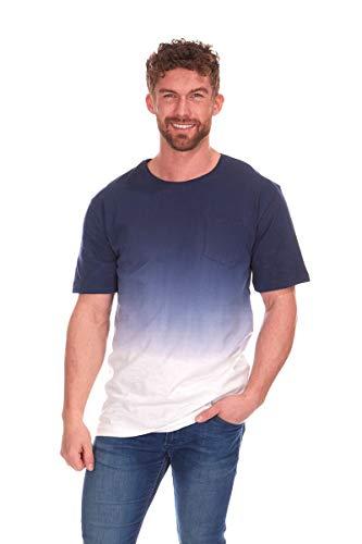 Herren Dip Indigo T-Shirt gefärbt (Medium)