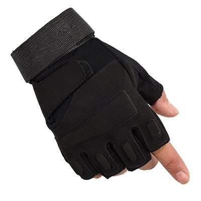 Deportes al Aire Libre Guantes sin Dedos Escalada Ciclismo Equitación Gimnasio Medio Dedo Guantes-a4-XL