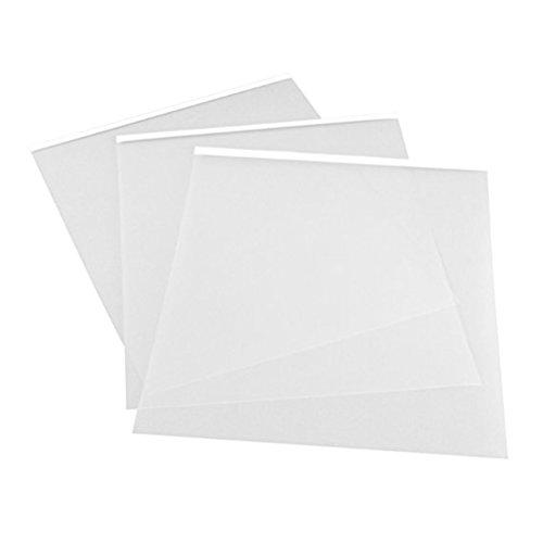 Rosneice Tintenstrahlfolie, 6 Stück, 29,7 x 21 cm, A4, transparent, Inkjet-Folie, wasserfest, transparent, Siebdruckfolie