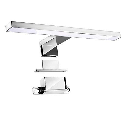Aplique Espejo Baño, Infankey 3 en 1 Lámpara de Espejo Baño 5W 220V 30CM 400LM 4000K, Luz Blanca Neutra, IP44 Impermeable, para Espejo/Gabinete/Pared [Clase de Eficiencia Energética A+]