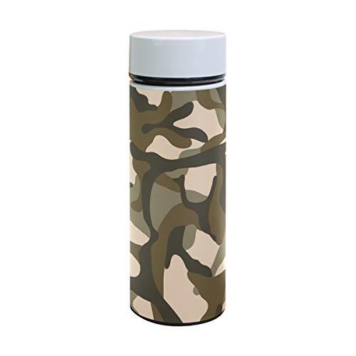 Ahomy Edelstahl Vakuum-Isolierflasche Mosaik Camouflage Wasserflasche Reise Kaffee Becher 350 ml