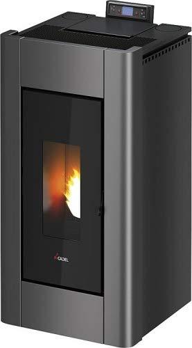 CADEL Prince³ Plus Pelletofen 10,5 kW Pellet Ofen Warmluftverteilung Prince-Anthrazit