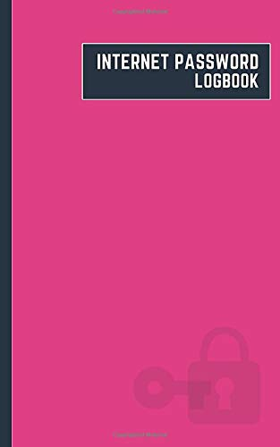 internet password logbook: 5x8 cute internet password book | cool internet password log book paper with page numbers | internet password logbook | ... journal paper | locked key barbie color