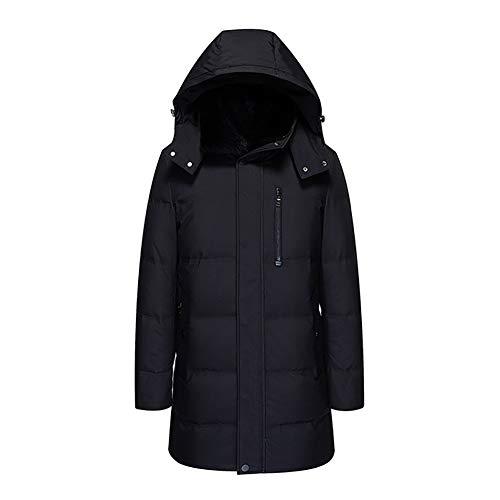 YZY heren donsjack, dikke warme winterjas met afneembare capuchon en grote bontkraag, outdoorjas in extra grote maat voor onderweg om te wandelen
