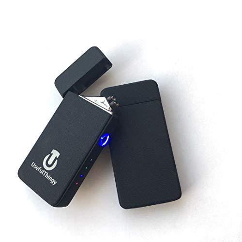 Atomic Lighters 2 Pack - Tesla Coil Lighter USB Rechargeable - Dual Arc Electronic Lighter Electric Plasma 3 Designs(Black + Black)