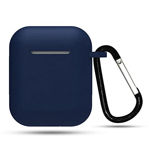 Heropantee Pouch For Boat Airdopes 131/138 Protective Soft Silicone 360° Full Protection Dust-Proof Shockproof Case Cover with Hook (Cover Only) (This Cover Is Not Sold Or Created By Boat) (Navy Blue)
