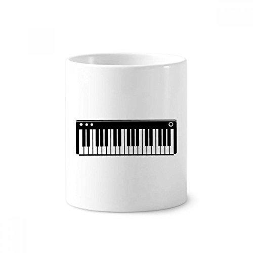 DIYthinker Elektrische Piano Muziek Vitaliteit Geluiden Keramische Tandenborstel Pen Houder Mok Wit Cup 350ml Gift 9,6 cm hoog x 8,2 cm diameter