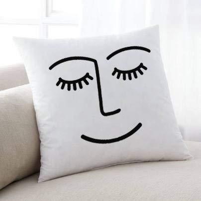Lplpol Decorative Pillow Cover, Winky Face Pillow, Throw Pillow, Trendy Pillow, Winky Pillow, Winking Pillow, Pillow Facae, Popular Pillow, Cute Pillow, Decorative Pillow, Modern Pillows 20x20 Inches