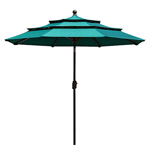 EliteShade Sunbrella 9Ft 3 Tiers...