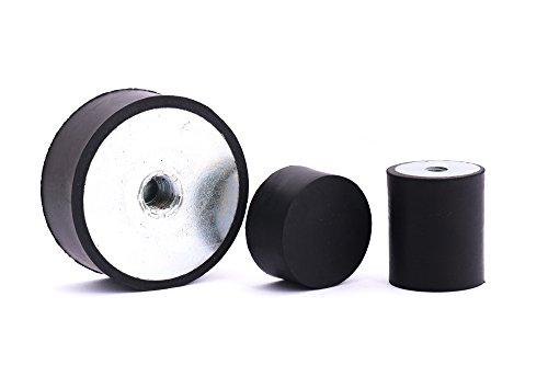 10 Stck. Gummipuffer Gummimetallpuffer Typ E Ø 30 mm Höhe 20 mm einseitig Innengewinde M8 andere Seite geschlossen Shorehärte 55° Metall verzinkt
