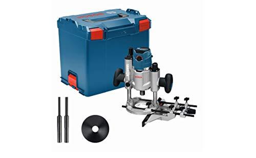 Bosch Professional GOF 1600 CE - Fresadora de superficie (1600 W, 10000 – 25000 rpm, 8/12,7 mm, vel. constante, ajuste fino de 0,1 mm, en L-BOXX)