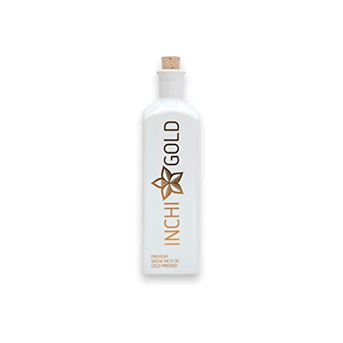 INCHI GOLD Premium Sacha-Inchi-Öl (100 ml), Omega-3-Öl der Spitzenklasse, reich an Vitamin E, vegan