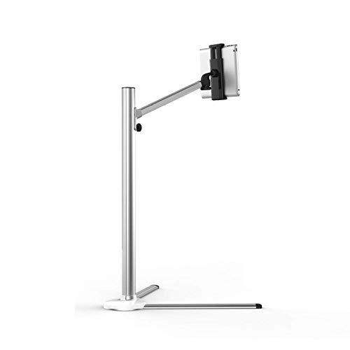 Soporte para iPad de aleación de Aluminio para Piso, Altura Ajustable 31-108cm / 12.2-42.5in, Soporte Plateado para Tableta, Soporte para trípode para iPad 2 3 4 Mini Tableta Air Retina