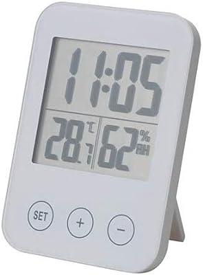 IKEA/イケア SLATTIS:クロック 湿度計/温度計付き ホワイト (103.163.77)