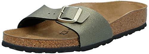 BIRKENSTOCK Damen Sandale Madrid BF ICY Metallic Stone Gold 39
