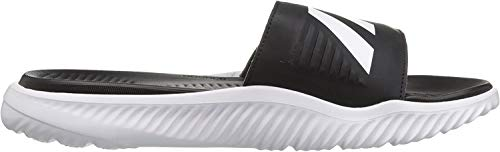 adidas Men's Alphabounce Slide Sandals, White/Core Black/White, (11 M US)