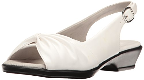 Easy Street Women's Fantasia Heeled Sandal, White, 7.5 W US