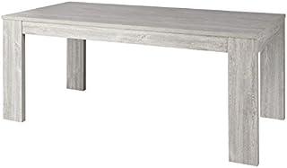 Tousmesmeubles Table de Repas Longueur Gris cendré 160 cm - JACCO - L 160 x l 92 x H 75 - Neuf