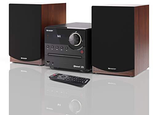 Sharp XL-B512(BR) Microcadena Sound System estereo con radio FM, Bluetooth v5.0, CD-MP3,...