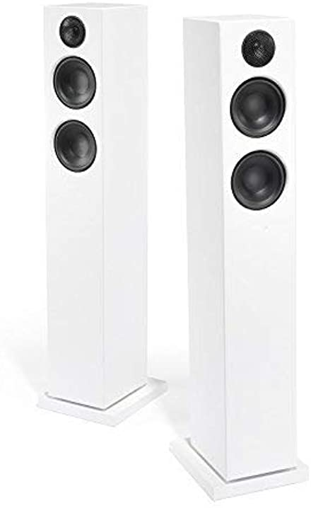 Audio pro addon t20 altoparlanti a torre con bluetooth (1 coppia con telecomando in alluminio, 2 x 60w) bianco 00157922