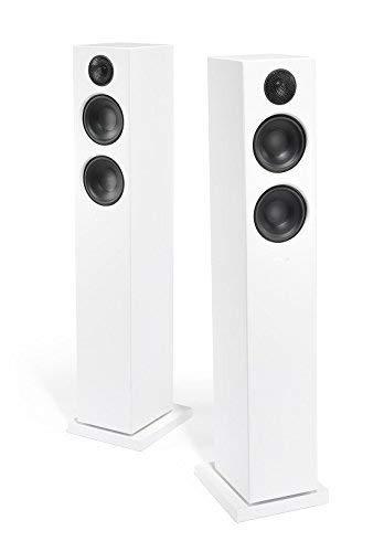 Audio Pro Addon T20 Aktive Standlautsprecher mit Bluetooth (1 Paar mit Aluminium-Fernbedienung, 2 x 60W) Weiß