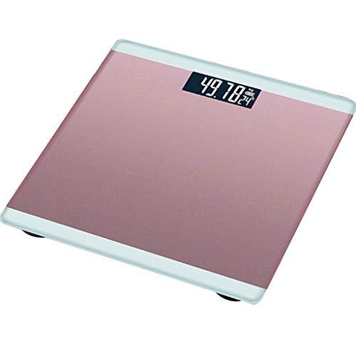 ZFDM Cuatro Colores Opcionales Unidad de conversión Pantalla de Temperatura Balanzas electrónicas domésticas (Color : Pink)