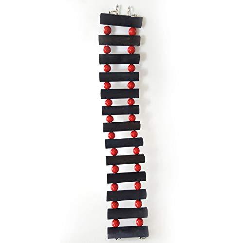 Vogelspeelgoed Pet Papegaai Swing Klimmen Ladder Houten Kauwen Hangende Touw Bell Deco, 6 * 30cm, Stairs