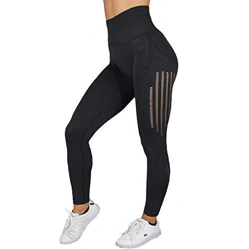 Shanol Inconsútil Atractivo de una Sola Pieza de los Pantalones de Cintura Alta Hueco de la Cadera del Estiramiento elástico Secado rápido Aptitud Pantalones Pantalones Deportivos Pantalones de Yoga