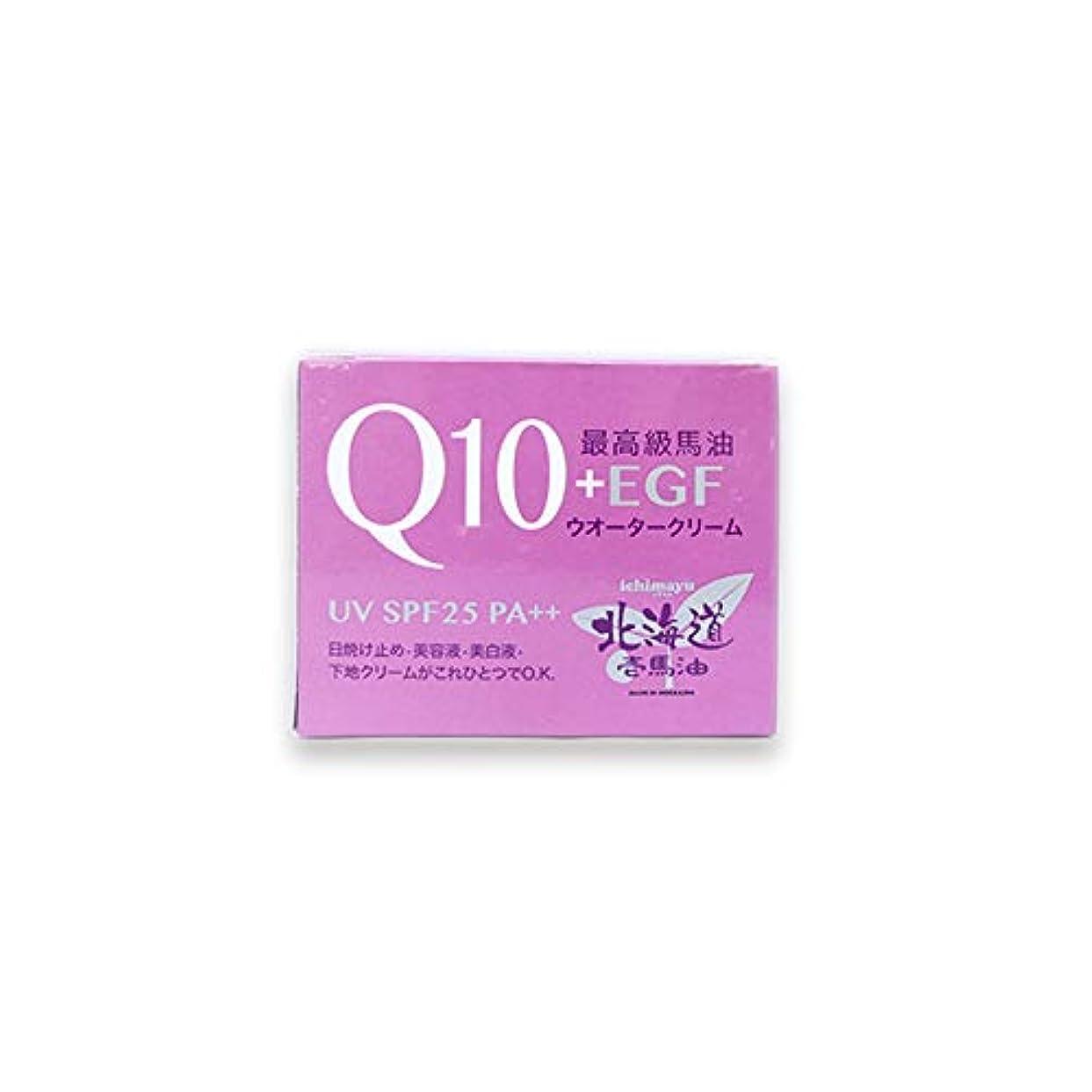 喜ぶ勧告タイル北海道壱馬油Q10+EGFウオータークリームUV SPF25 PA++80g