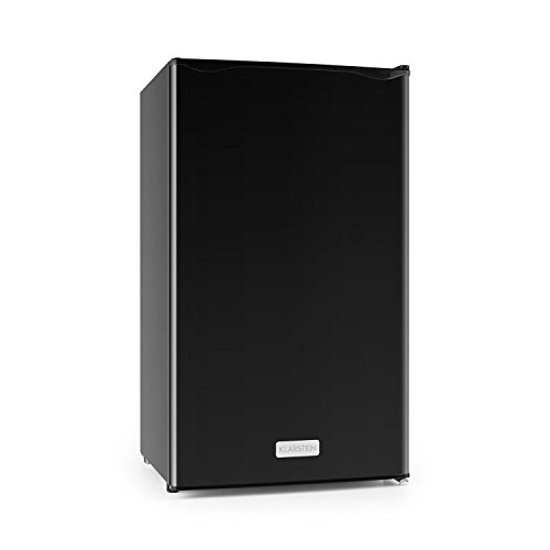 Klarstein Springfield - Umweltfreundlicher Kühlschrank, Black Edition, 112 Liter Nutzinhalt, Energieeffizienzklasse A+, sparsamer Verbrauch mit 60 W, 3 Ebenen, Gemüsefach, 0-10 °C, schwarz