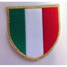 MAREL Patch Scudetto Italia Bordo Sottile cm 5 x 5 Toppa Ricamata termoadesiva -340