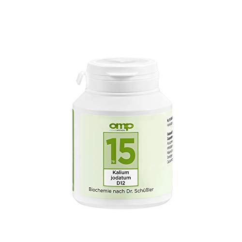 Schüssler Salz Nr. 15 Kalium jodatum D12 | 400 Tabletten | Das Salz für die Schilddrüse und den Stoffwechsel | glutenfrei
