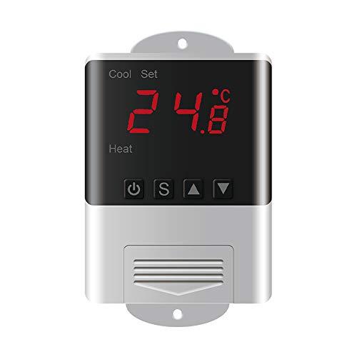 KKmoon Intelligenter Temperaturregler LED Digital Thermostat Thermometer Temperatursensor Elektronischer Mikrocomputer Thermostat Aquarium schlüpfen Meeresfrüchte-Maschine Kühlung Heizung