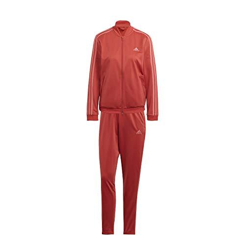 adidas Essentials, Tuta Sportiva Donna, Equipaggio Rosso/Rosa Sfumati, L