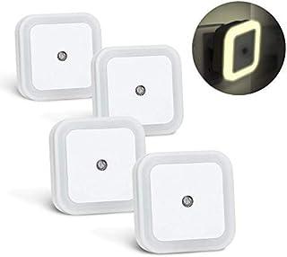 KYG Lámpara Nocturna (4 Pack) Luz Quitamiedos con Luz Sensor y Enchufe Pared, Ahorro de Energía, Luz Amarilla
