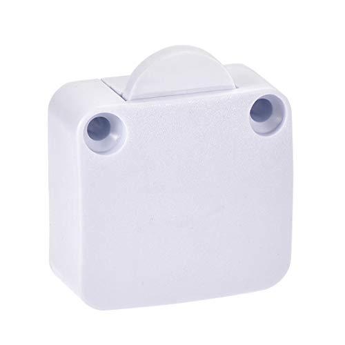 sourcing map Garderoben Tür Lampen Schalter Momentan Schrankschalter Normalerweise Geschlossen 110-250V 2A Weiß