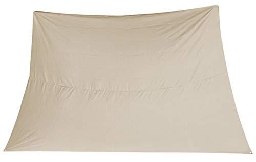 PEGANE Voile d'ombrage rectangulaire Coloris Beige - Dim : 3 x 4 m