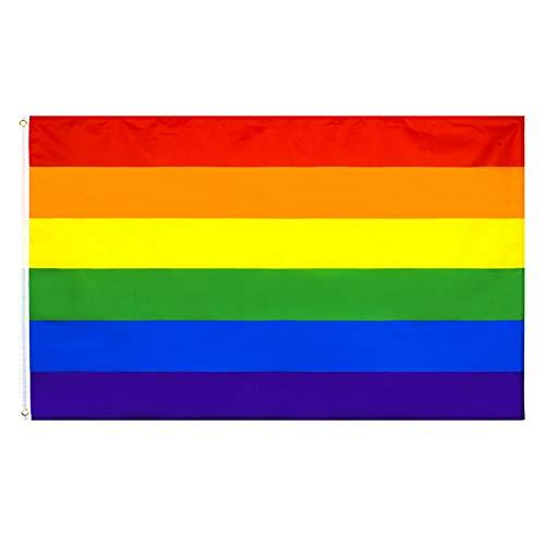 PringCor 3x5FT Rainbow Pride Flag Banner LGBTQ Gay Lesbian Love Equal