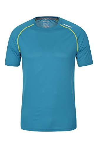 Mountain Warehouse Aero II Camiseta de Manga Corta para Hombre - Camiseta, Ligera, Transpirable - para Gimnasio, Deporte, Exterior Verde Agua XL