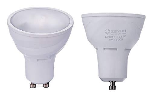 Zeyun GU10 LED-lamp met daglichtsensor, schemeringssensor nachtlicht, 3W, automatische schakelaar met lichtsensor, neutraal wit 2700K, 1-pack
