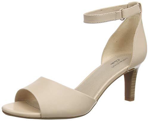 Clarks Alice Greta, Zapatos con Tacon y Correa de Tobillo para Mujer, Azul (Blush Leather Blush Leather), 40 EU
